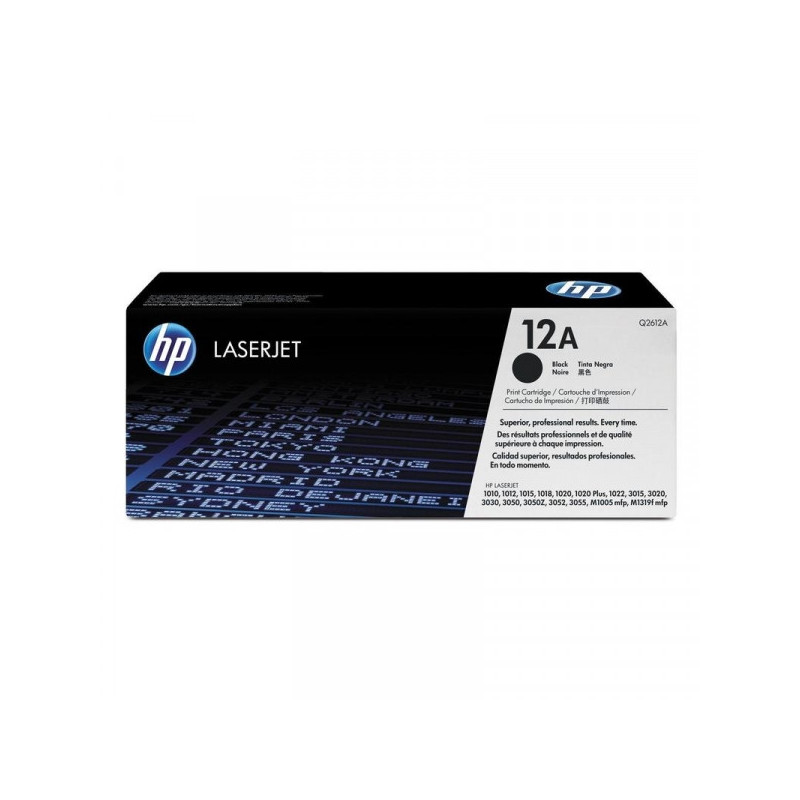 Картридж лазерный HP 12A Q2612A черный оригинальный