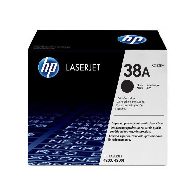 Картридж лазерный HP 38A Q1338A черный оригинальный