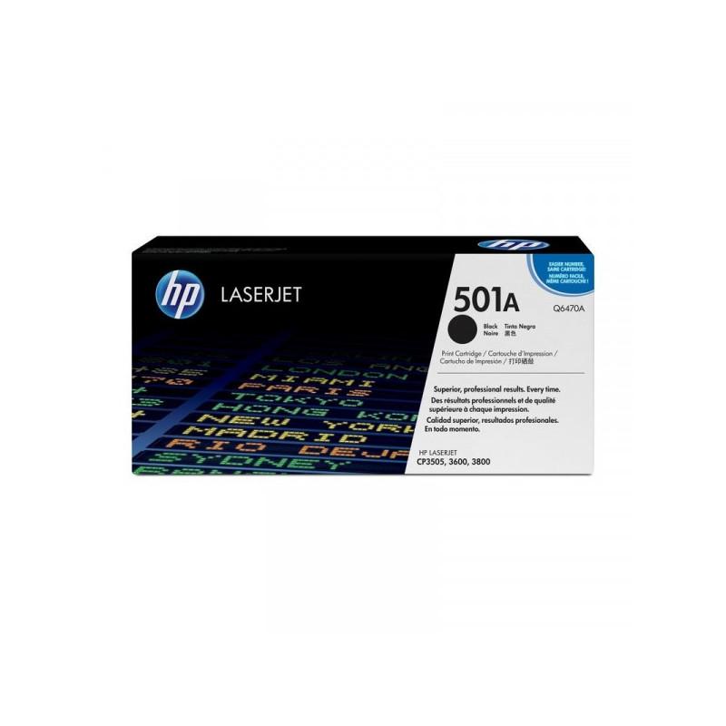 Картридж лазерный HP 501A Q6470A черный оригинальный