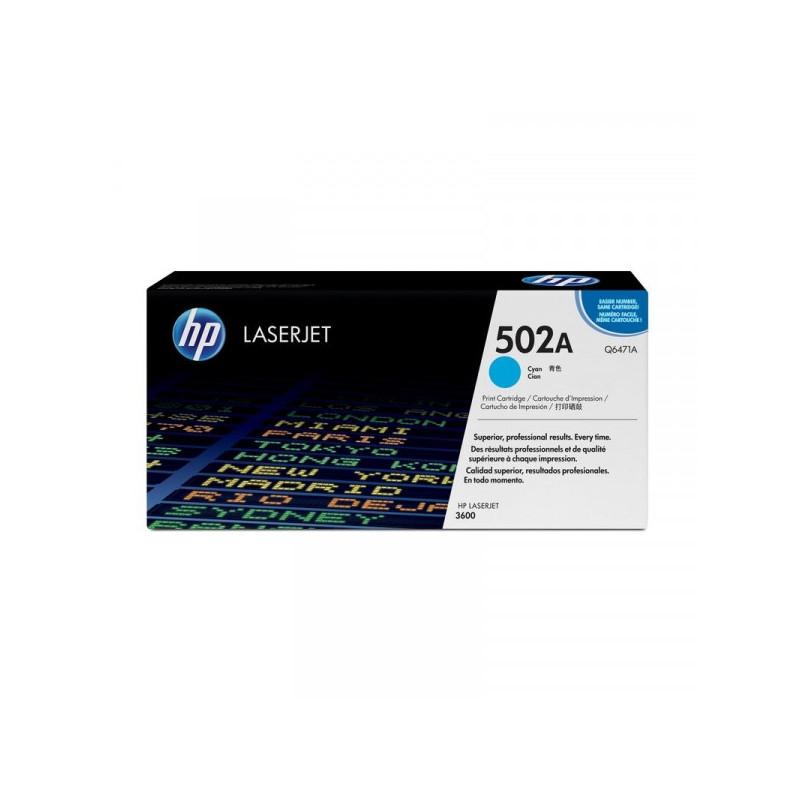 Картридж лазерный HP 502A Q6471A голубой оригинальный