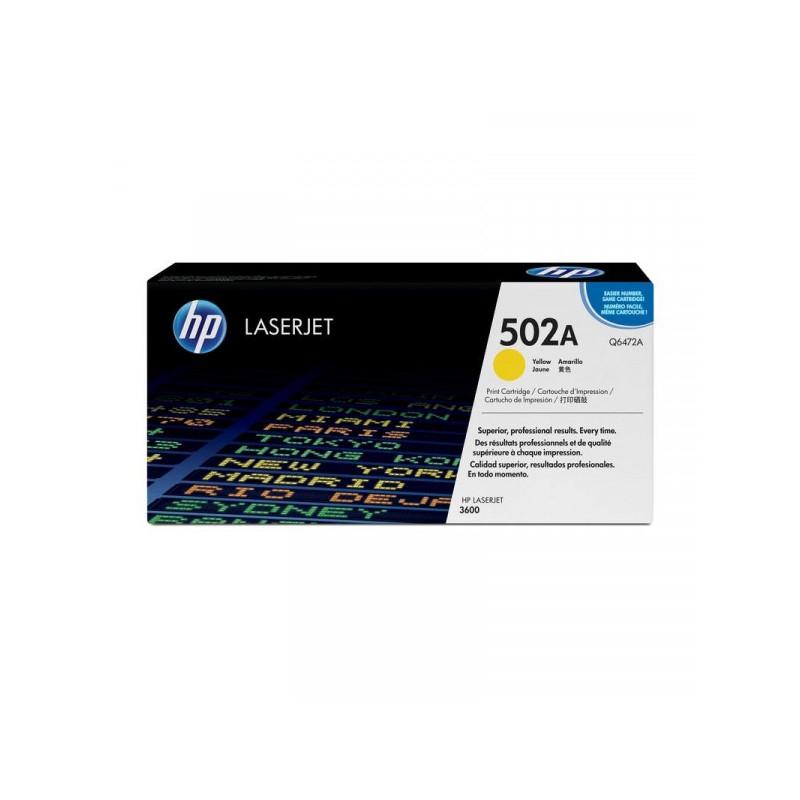 Картридж лазерный HP 502A Q6472A желтый оригинальный