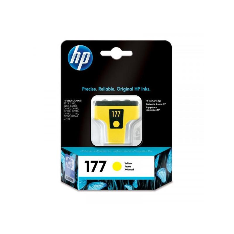 Картридж струйный HP 177 C8773HE желтый оригинальный