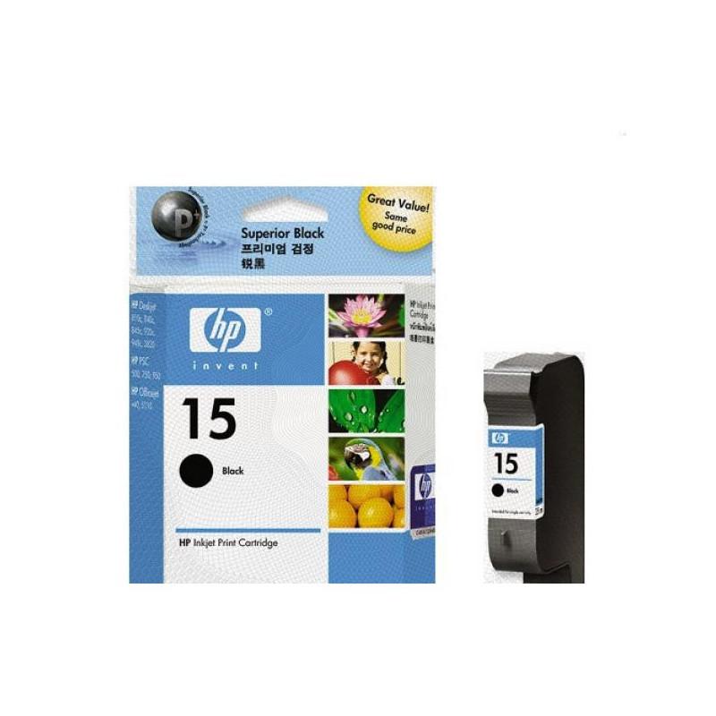 Картридж струйный HP 15 C6615DE черный оригинальный