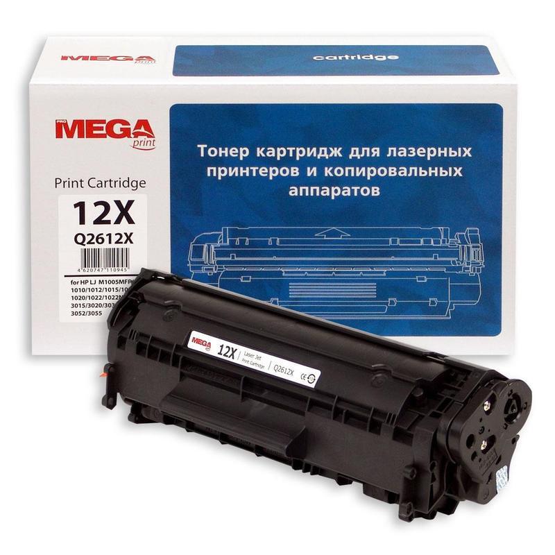 Тонер-картридж лазерный Pro Mega 12X Q2612X черный совместимый