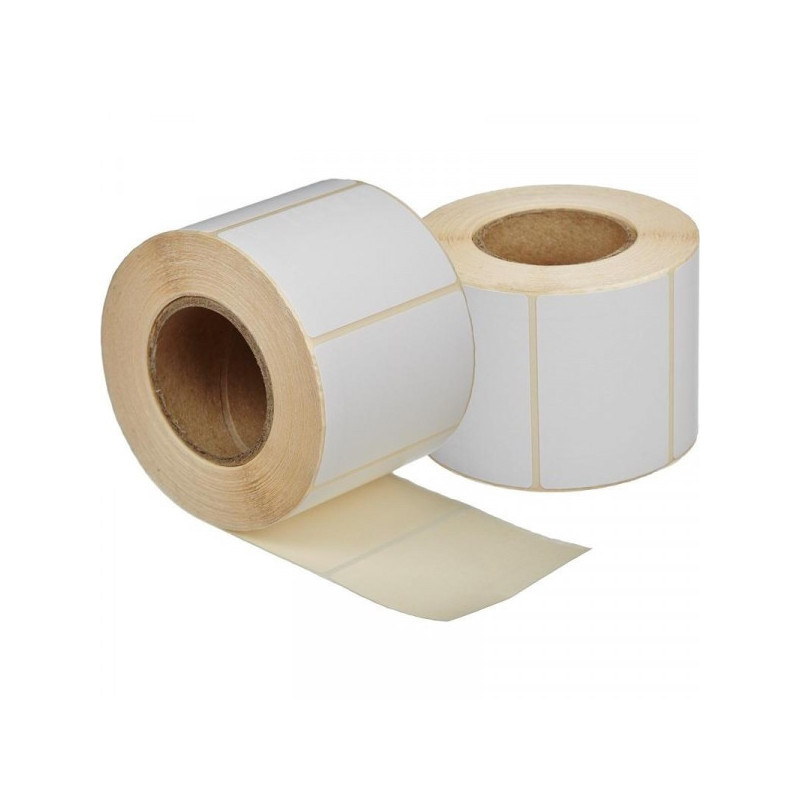 Термоэтикетки 58х40 эко без печати 700 штук/рулон 24 рулонов/упаковка