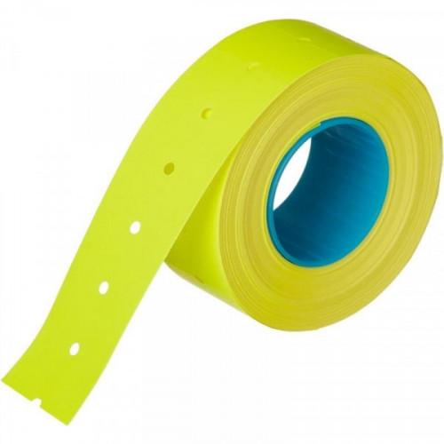 Этикет-лента 21,5х12 мм желтая прямоугольная 1000 штук/рулон 10 рулонов/упаковка