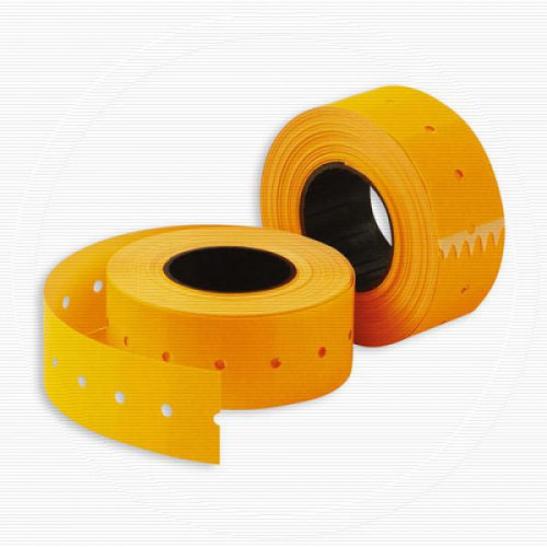 Этикет-лента 21,5х12 мм оранжевая прямоугольная 1000 штук/рулон 10 рулонов/упаковка