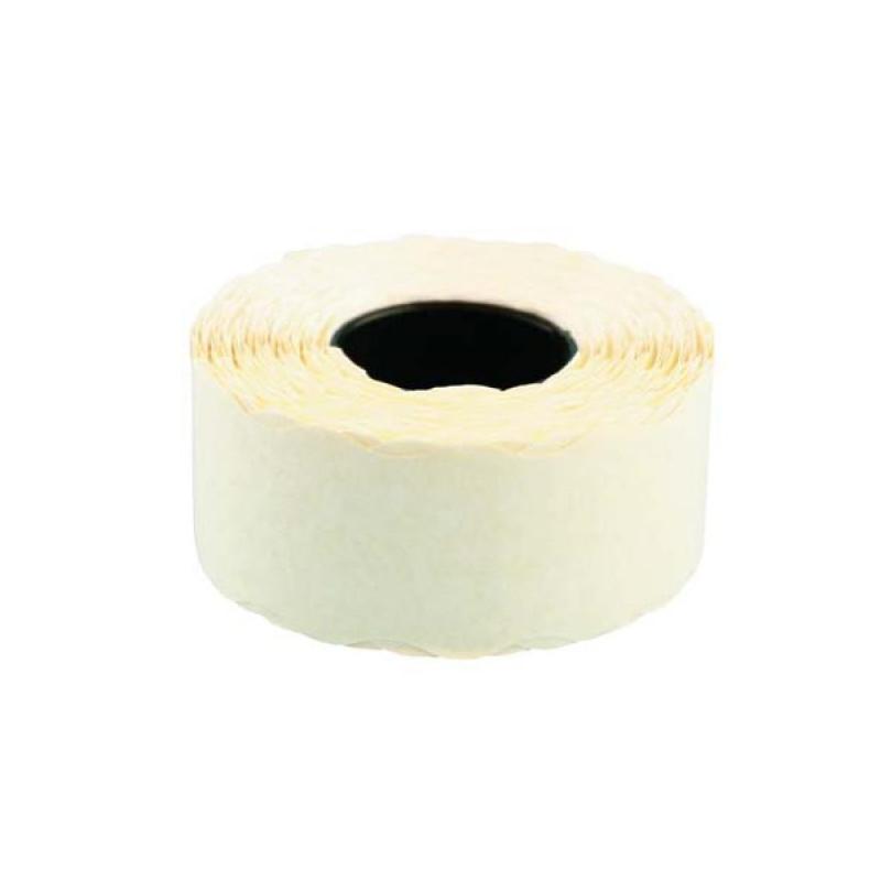 Этикет-лента 26х12 мм белая волна 1000 штук/рулон 10 рулонов/упаковка