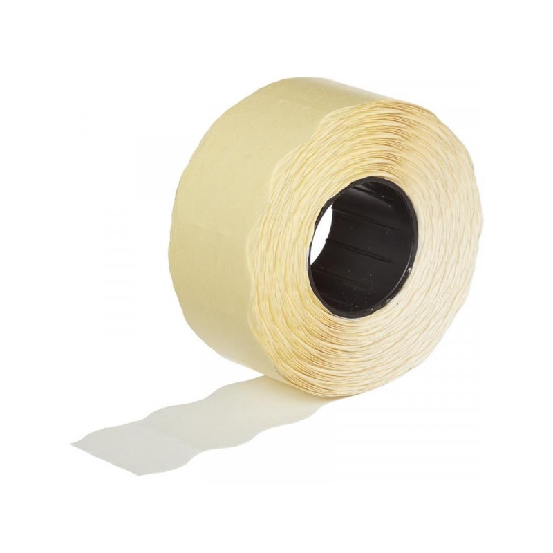 Этикет-лента 26х16 мм белая волна 1000 штук/рулон 10 рулонов/упаковка