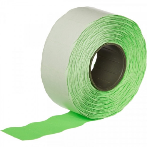 Этикет-лента 26х16 мм зеленая волна 1000 штук/рулон 10 рулонов/упаковка