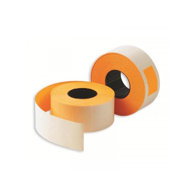 Этикет-лента 26х16 мм оранжевая прямоугольная 1000 штук/рулон 10 рулонов/упаковка