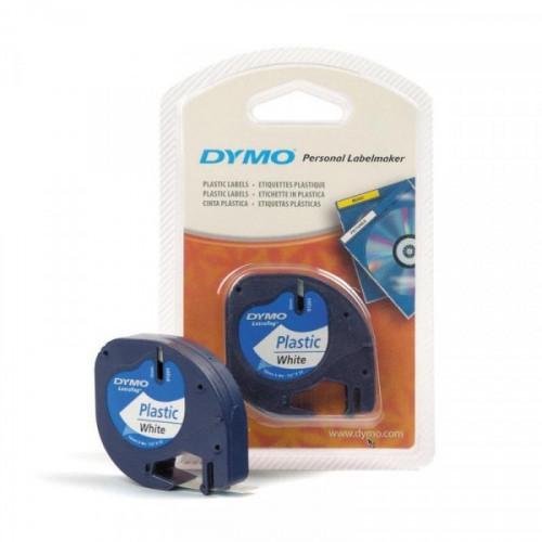 Картридж к Label принтеру DYMO LETRA TAG 12 мм х 4 м черный шрифт/белая лента пластик
