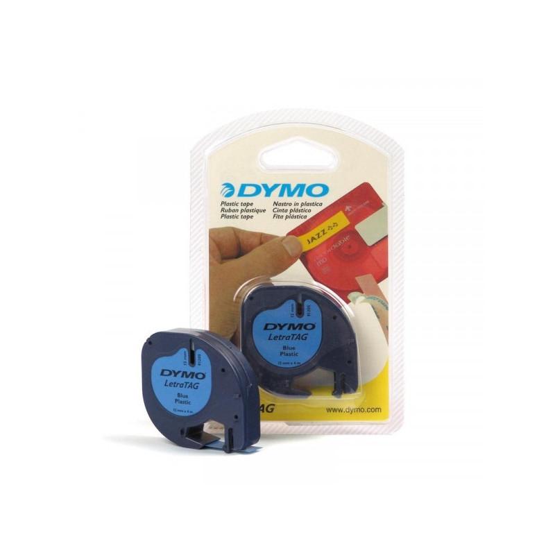 Картридж к Label принтеру DYMO LETRA TAG 12 мм х 4 м черный шрифт/голубая лента пластик