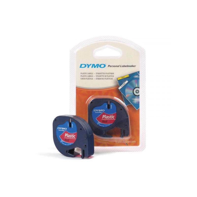 Картридж к Label принтеру DYMO LETRA TAG 12 мм х 4 м черный шрифт/красная лента пластик