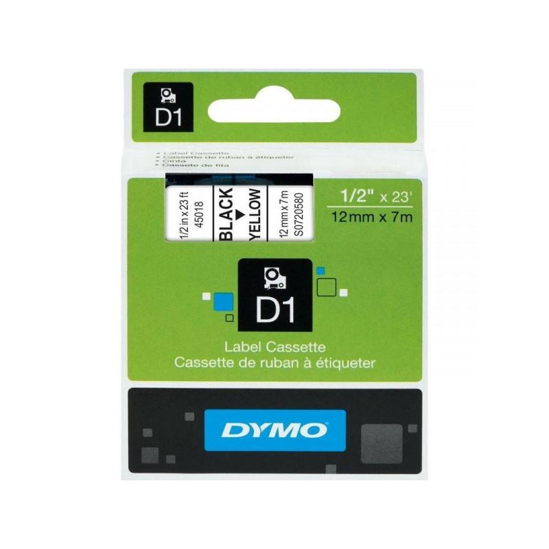 Картридж к принтеру DYMO LM150 и LP350 12 мм х 7 м черный/желтый пластик