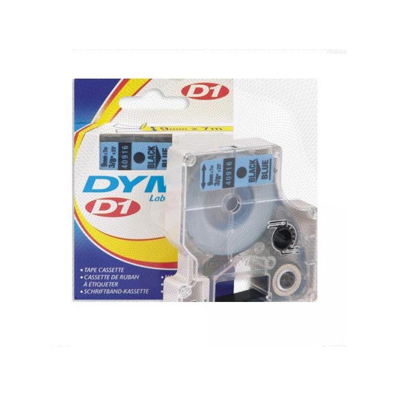 Картридж к принтеру DYMO LM150 и LP350 9 мм х 7 м черный/голубой пластик