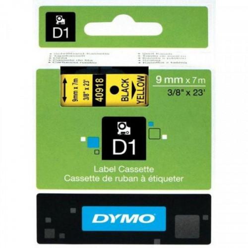 Картридж к принтеру DYMO LM150 и LP350 9 мм х 7 м черный/желтый пластик