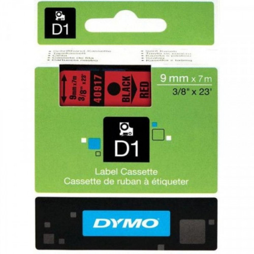 Картридж к принтеру DYMO LM150 и LP350 9 мм х 7 м черный/красный пластик