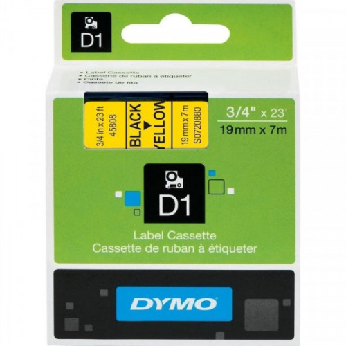 Картридж к принтеру DYMO LP350 19 мм х 7 м черный/желтый пластик