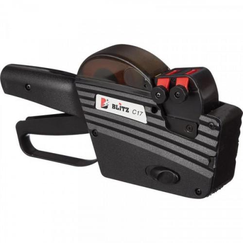 Этикет-пистолет двухстрочный BLITZ C17 10 и 7 символов 26х16 цифровой Италия
