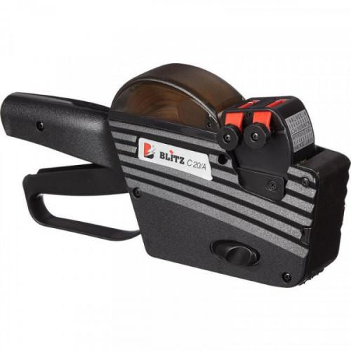 Этикет-пистолет Blitz C20A двухстрочный (прямоугольная и волнистая лента, 10 символов в строке, 26x16 мм)