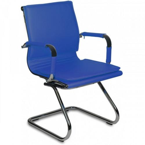Кресло на полозьях Бюрократ CH-993-Low-V/blue синий искусственная кожа