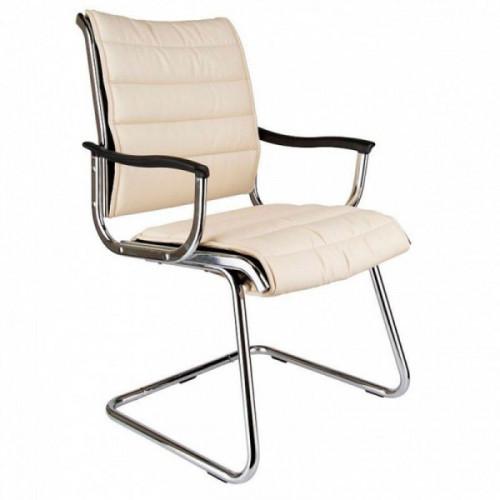 Кресло на полозьях Бюрократ Ch-994AV Ivory искусственная кожа цвет слоновая кость