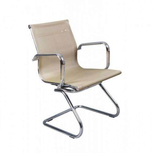 Кресло низкая спинка на полозьях Бюрократ CH-993-Low-V/gold золотой сетка хром