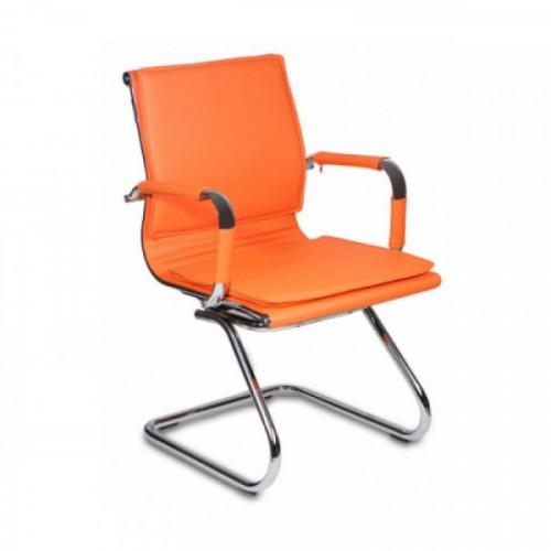 Кресло на полозьях Бюрократ CH-993-Low-V/orange оранжевый искусственная кожа