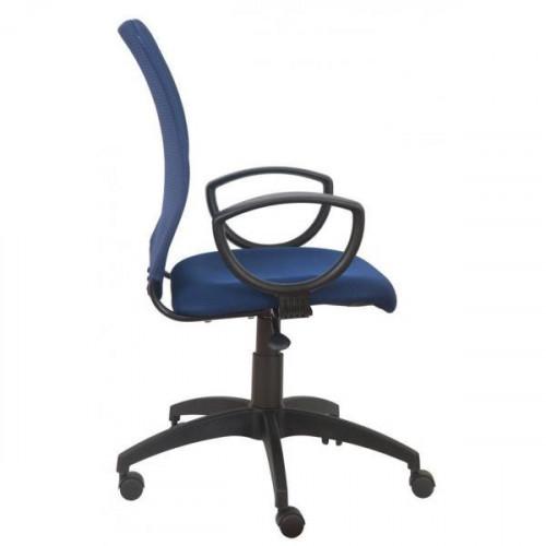 Кресло CH-599/DB/TW-10N (Спинка темно -синяя TW-05N сетка, сиденье  темно -синее TW-10N)