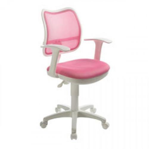 Кресло CH-W797/PK/TW-13A розово-белое