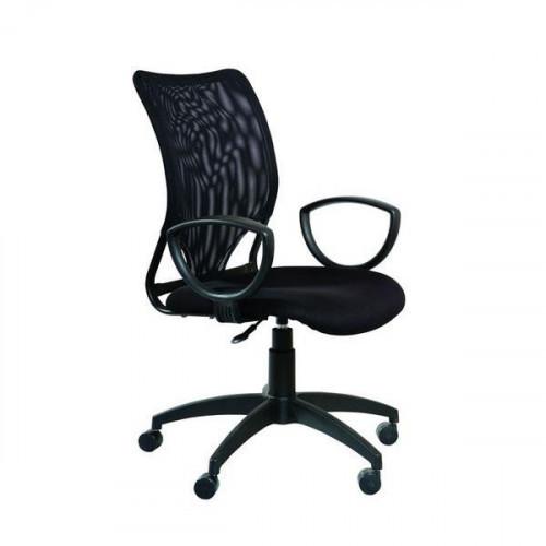 Кресло CH-599AXSN/TW-11 (Спинка черная сетка, сиденье черное TW-11)