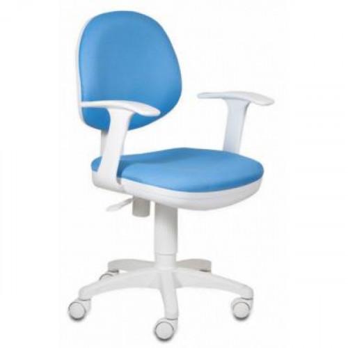 Кресло CH-W356AXSN/15-107 бело-голубое