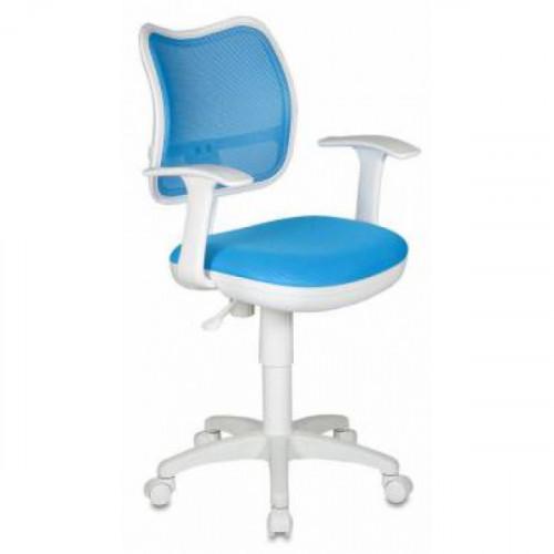 Кресло CH-W797/LB/TW-55 бело-голубое