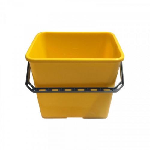 Ведро, 6л, пластик, квадратное, желтый, Vileda