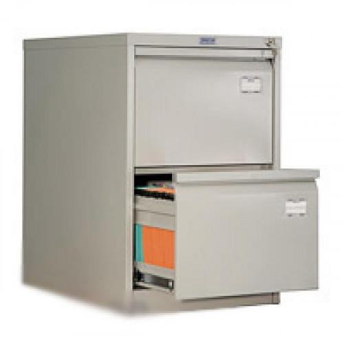 Шкаф картотечный ПРАКТИК AFC-02 470х630х710 мм на 2 секции для А4