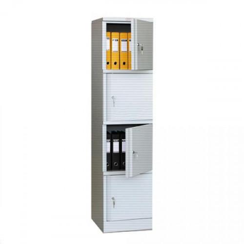 Металлический шкаф архивный Практик AM 1845/4 472x458x1830 мм 4 отделения