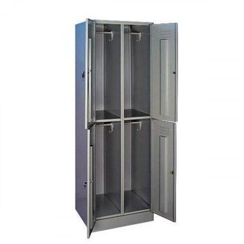 Металлический шкаф для одежды ШРМ24 600х500х1860 мм 4 отделения