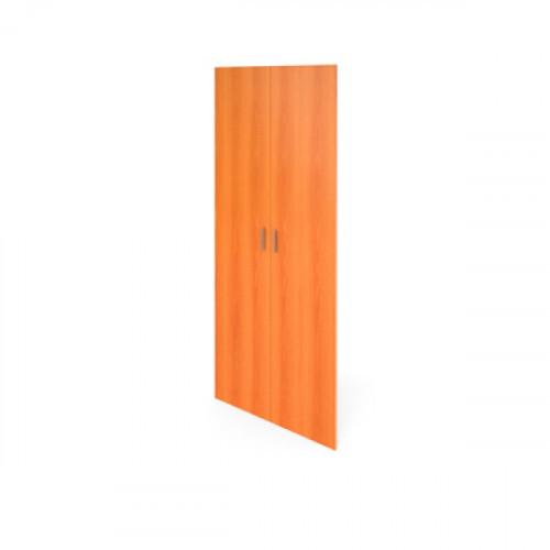 Комплект дверей высоких 710х1830х16 мм Авантаж цвета Миланский Орех