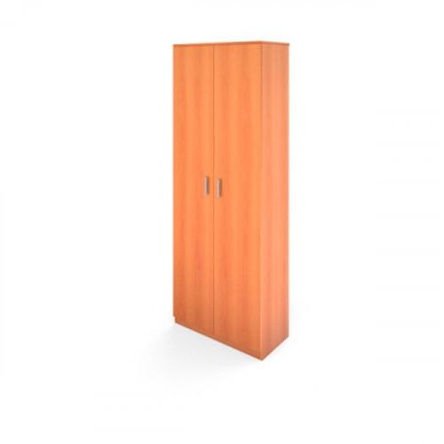 Стеллаж высокий с высокими дверьми с размерами 710х380х1920 мм Авантаж цвета Миланский Орех двери в комплекте