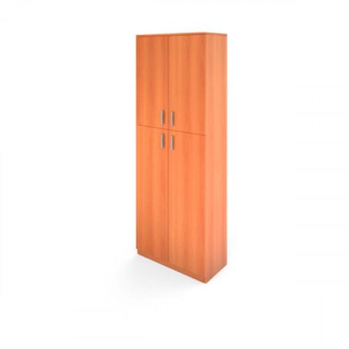 Стеллаж Авантаж высокий 710х380х1920 мм цвет Миланский Орех двери в комплекте (с низкими и средними дверьми на выбор)