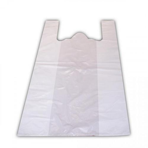 Пакет-майка ПНД белый 25+12х45 см 12 мкм 100 штук в упаковке