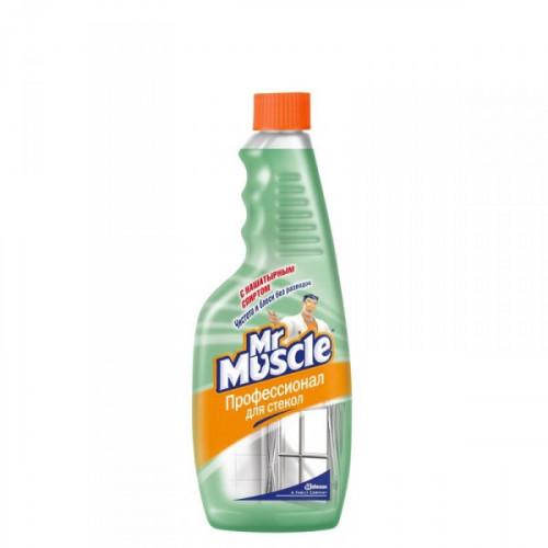 Средство для мытья стекол «Мистер Мускул» с нашатырным спиртом 500 мл запасной флакон