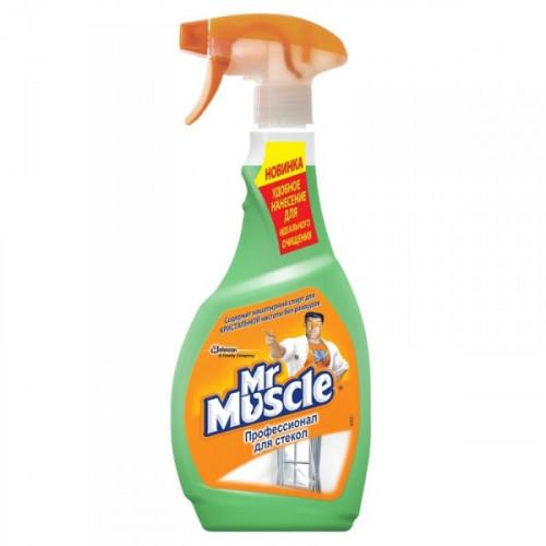 Средство для мытья стекол Мистер Мускул с нашатырным спиртом флакон с распылителем 500 мл