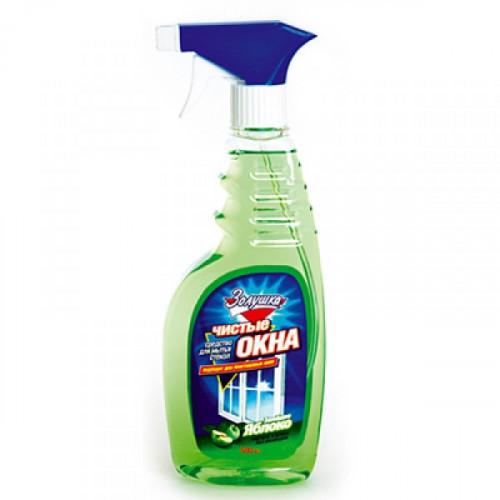 """Средство для мытья стекол """"Чистые окна"""" """"Золушка"""" с курком 500 мл лимон, яблоко, нашатырный спирт"""