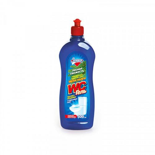 Средство чистящее, для туалета WC, гель, кислота, 500 мл, Лесная свежесть, пуш-пул
