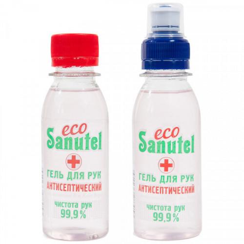 Гель для рук антисептический EcoSanutel, с витамином Е и Алоэ Вера, 100 мл