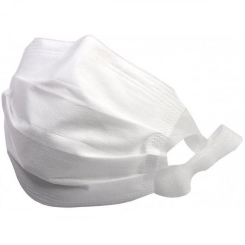 Маска гигиеническая одноразовая 3-слойная нетканый материал белый (упак.:50шт) (10398)