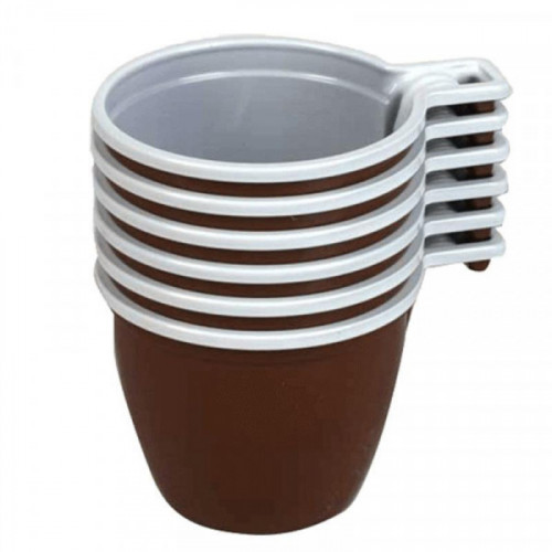 Чашка одноразовая Upax unity пластиковая коричневая/белая 200 мл 50 штук в упаковке