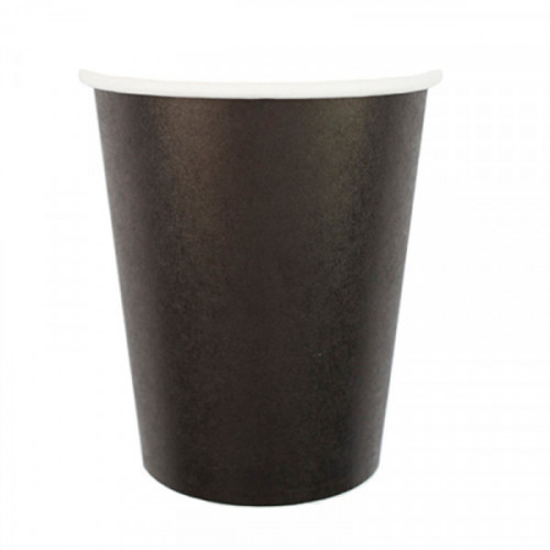 "Стаканы бумажные ПатиБум ""Black"", 250 мл, 6 штук, европодвес"